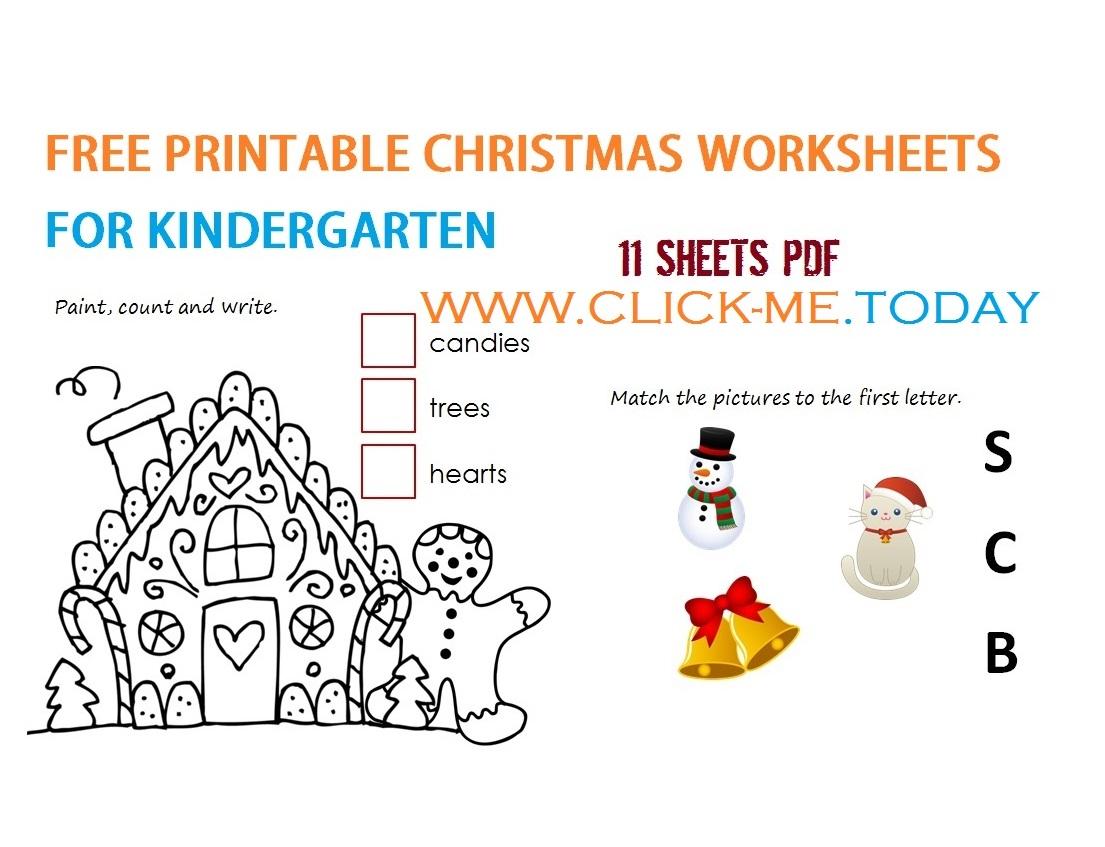 11 Free Printable Christmas Worksheets For Kindergarten Pdf