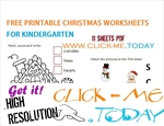 11 FREE PRINTABLE CHRISTMAS WORKSHEETS FOR KINDERGARTEN PDF