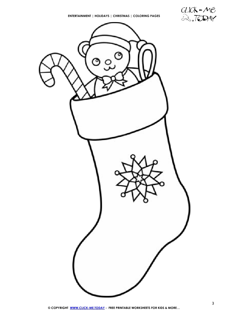 30 Printable Christmas Stocking Coloring Pages Free Printable Coloring Pages