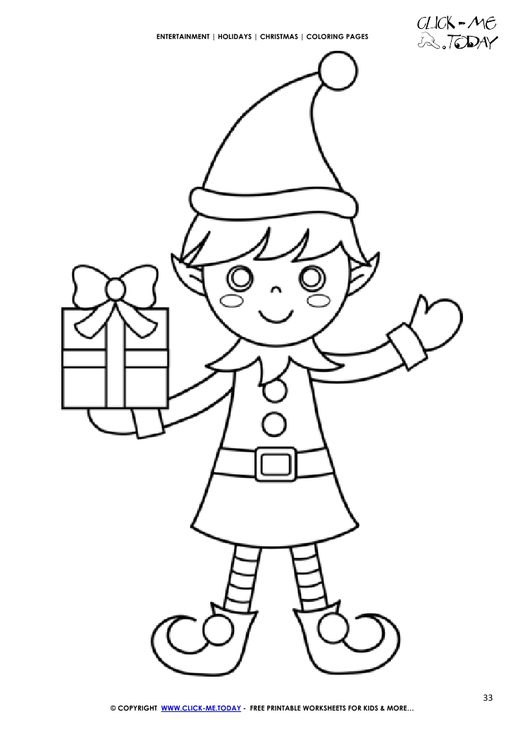 30 Free Printable Elf On The Shelf Coloring Pages | 1053x745