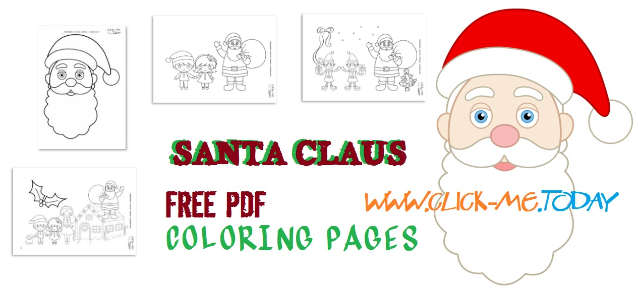 image relating to Santa Claus Printable named 20 Totally free printable Santa Claus coloring web pages PDF