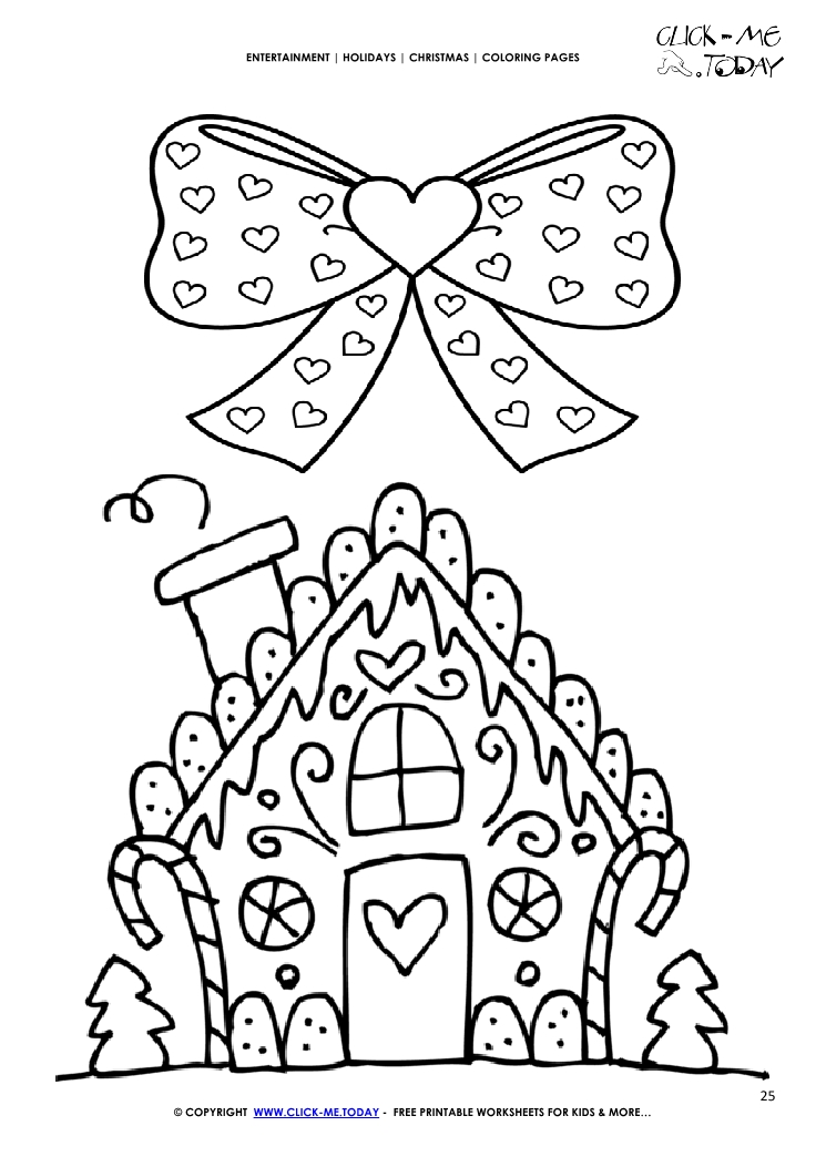 87 Christmas Coloring Page Gingerbread House