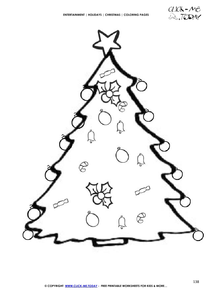 Huge Cristmas Tree Coloring Page Find Here All Pages For Christmas