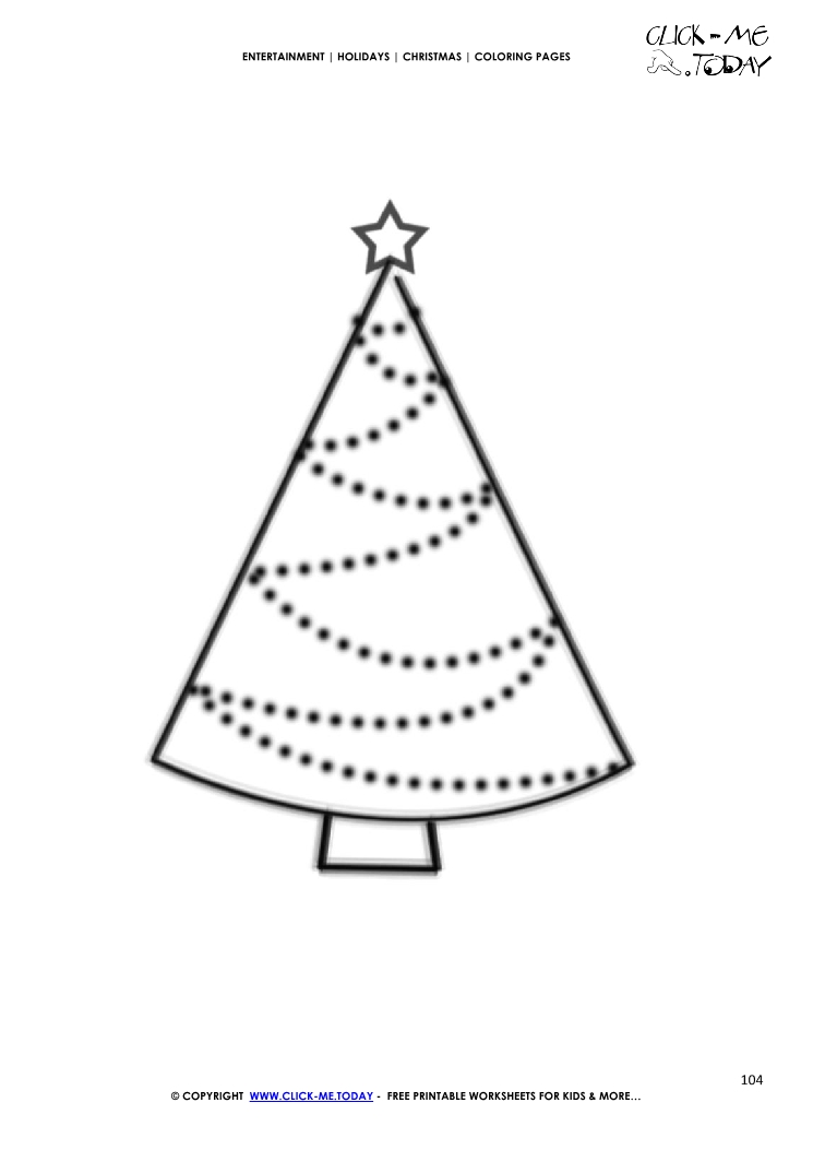 Free Printable Christmas Tree Coloring Pages For Kids | 1053x745