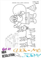 Christmas Landscape Coloring page