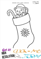 Stockings Coloring page