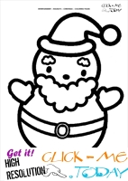 cute santa coloring page - Cute Santa Coloring Pages