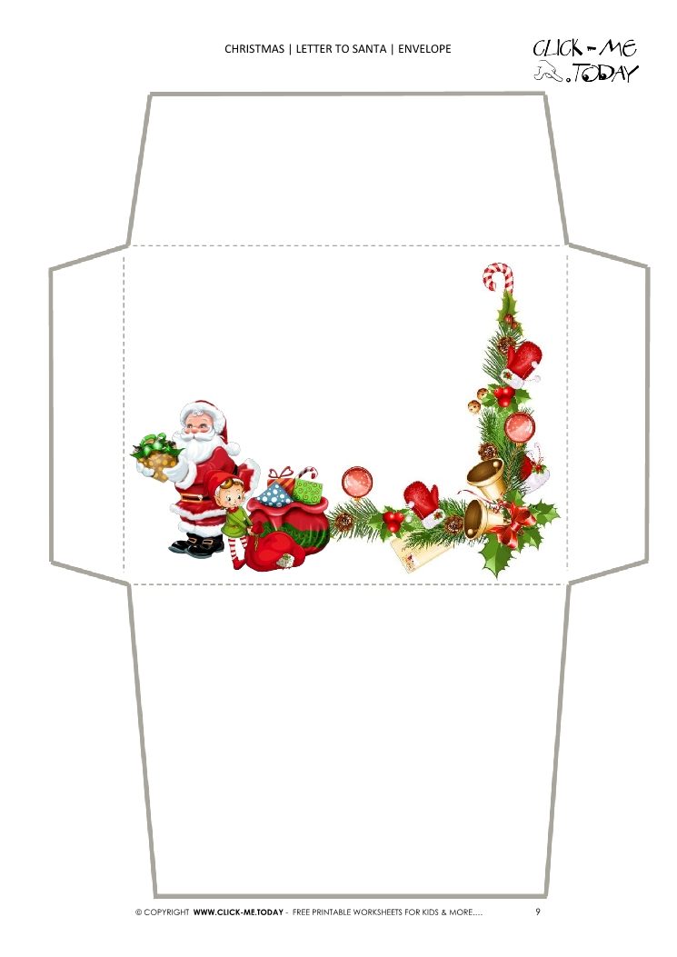 christmas envelope letter to santa template 9