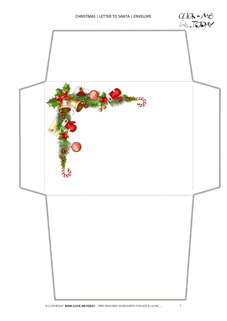 Envelope Christmas stationery 7