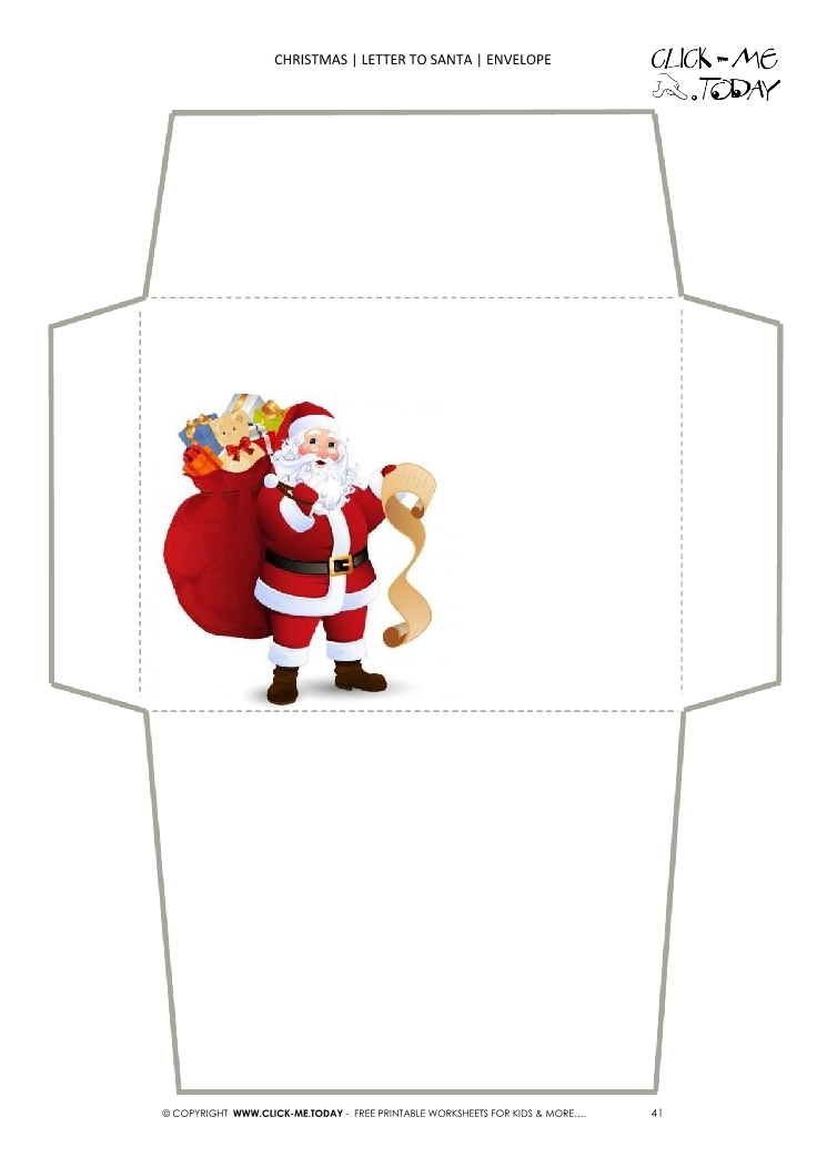 Printable envelope to santa template from toddler 41 spiritdancerdesigns