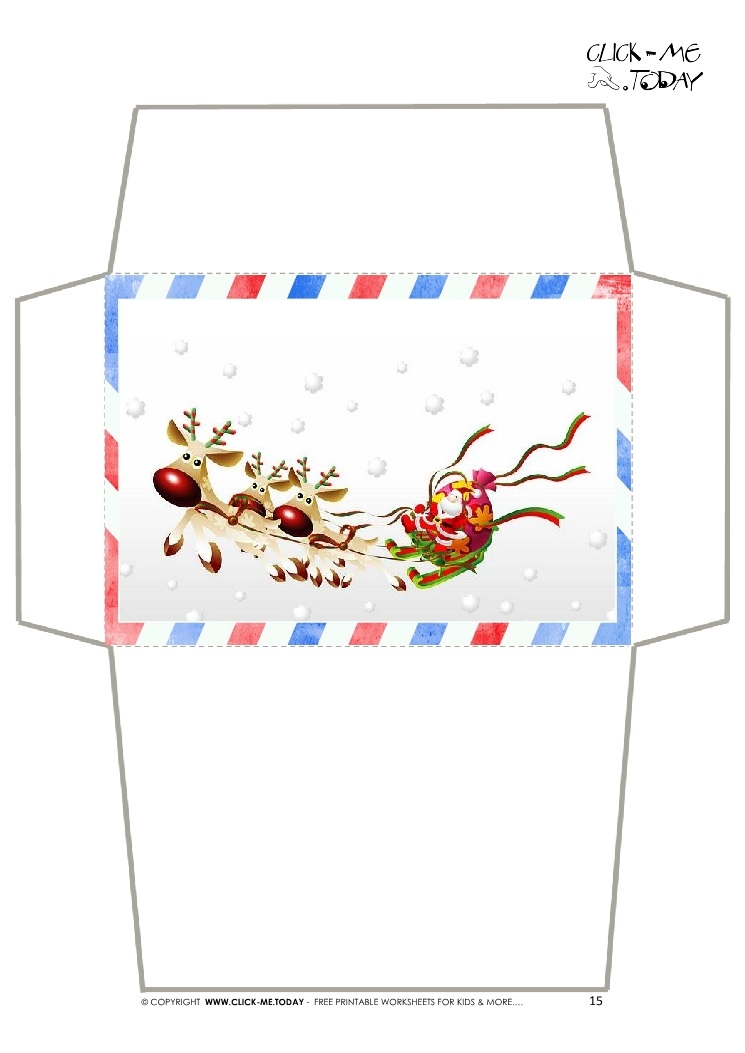 Craft envelope letter to santa claus border santa sleigh 15 spiritdancerdesigns Choice Image
