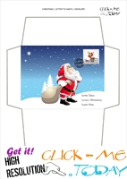 Amazing envelope to Santa template with postage stamp 66