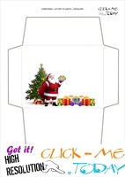 Blank Santa envelope template Xmas tree 13