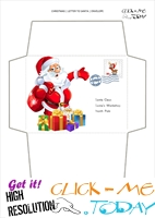Cute Santa envelope to Santa Claus print out with stamp 46