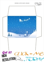 Free envelope to Santa Claus paper print out 61