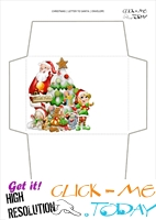 Free envelope to Santa print out - tree and elf 15