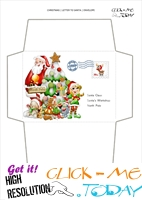 Free envelope to Santa print out - tree and elf with address 16