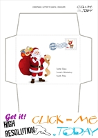 Printable envelope to Santa template from toddler with stamp 42