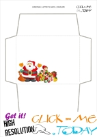 Free envelope to Santa Claus template from toddlers 47