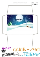 Printable envelope to Santa  paper Xmas night 63