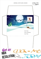 Printable envelope to Santa  paper Xmas night with stamp 64