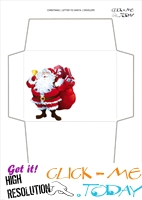 Printable envelope to Santa template Santa Claus and bell 39
