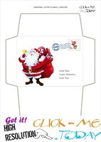 Printable envelope to Santa template Santa Claus and bell address 40