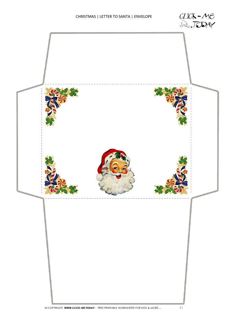 picture relating to Printable Santa Envelopes referred to as Common envelope towards Santa template 11