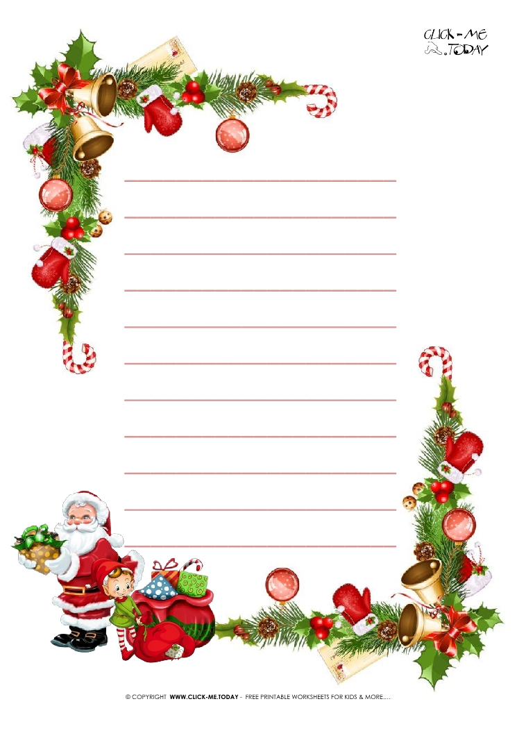 Printable christmas paper letter to santa template with lines 10 free printable christmas paper letter to santa template with lines 10 spiritdancerdesigns Images