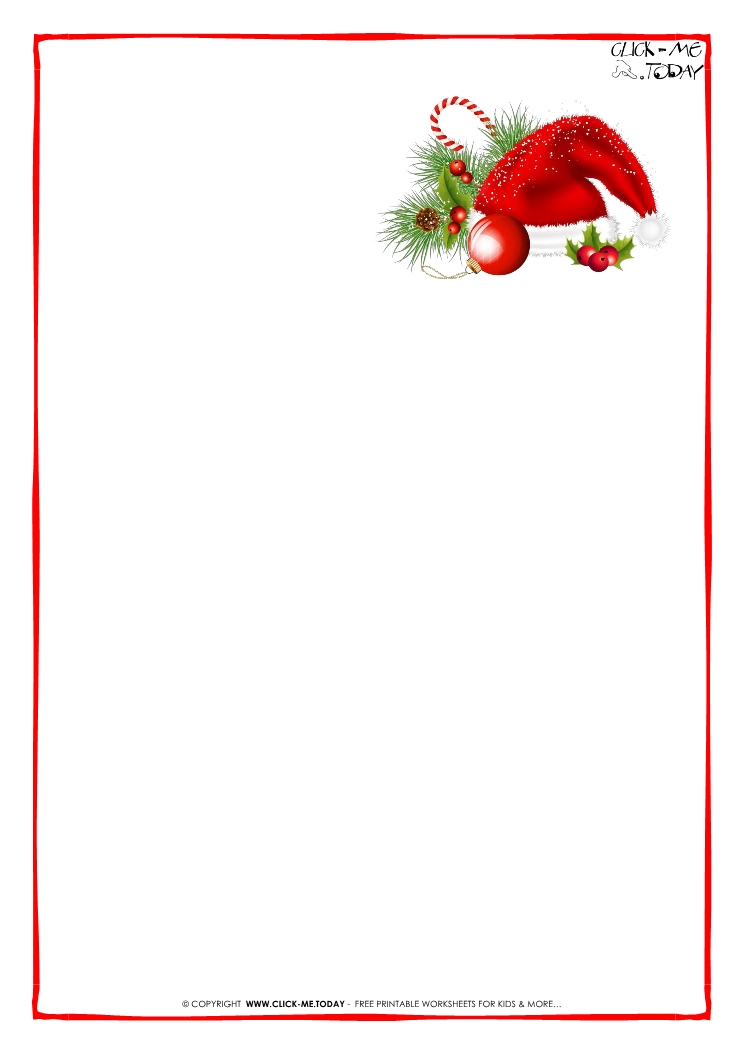 photograph about Free Printable Letter From Santa Template named Cost-free printable Letter towards Santa Claus blank paper template