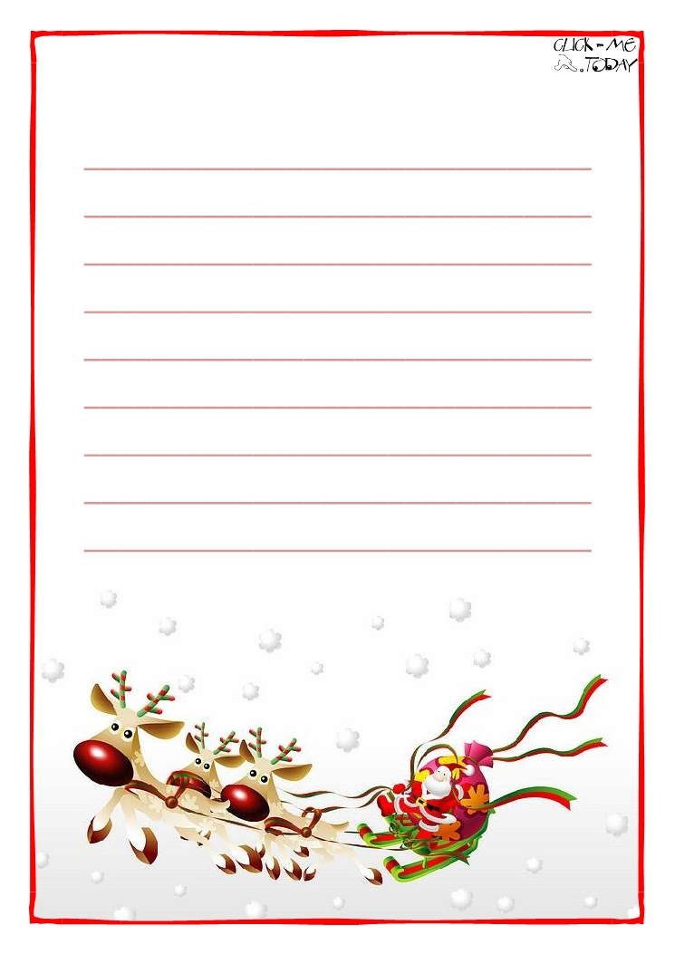 image about Printable Letters From Santa Claus named Printable Letter toward Santa Claus paper with strains Sleigh