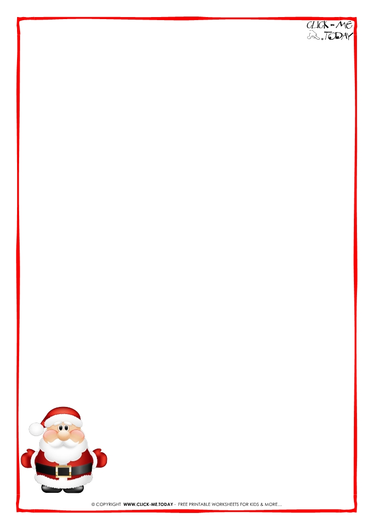 Letter to santa claus paper blank template cute santa 6 spiritdancerdesigns Image collections