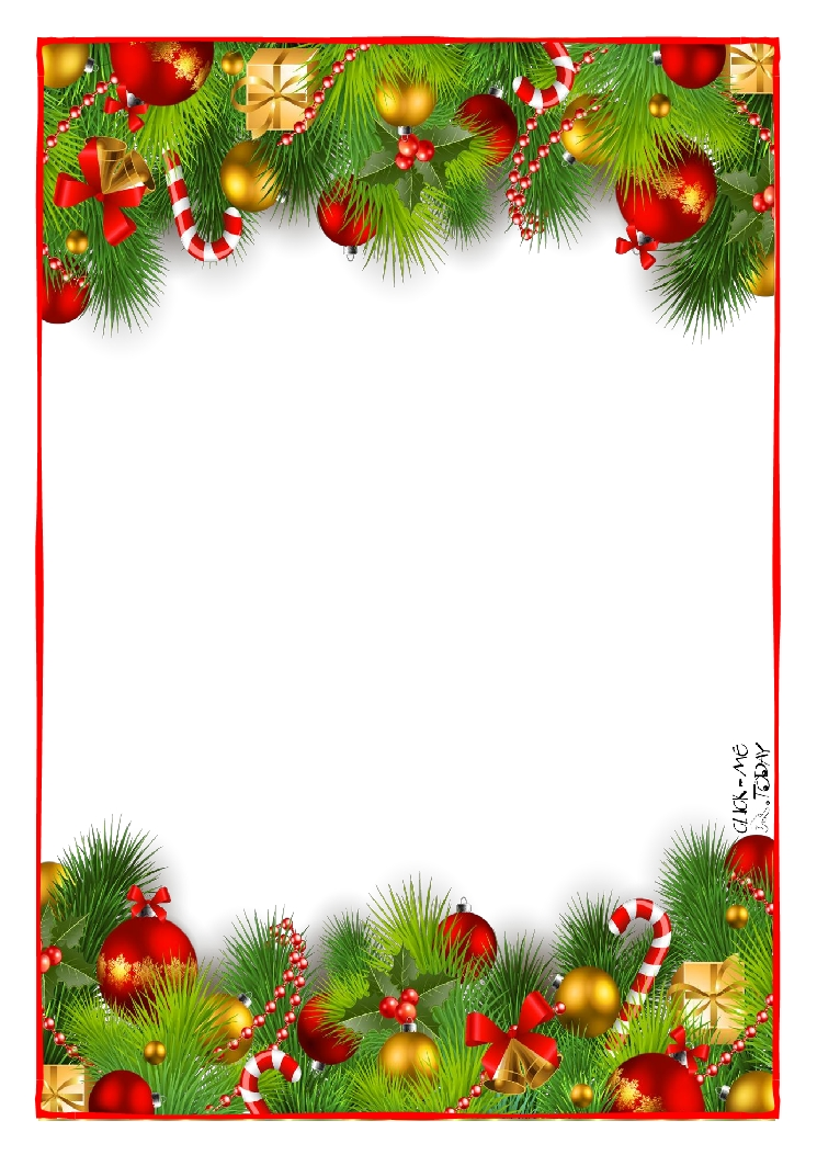 Letter to Santa Claus paper - blank Xmas Decoration-9