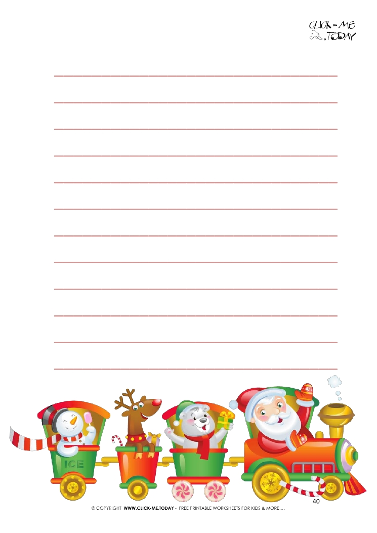 free printable letter to santa template from newborn with lines 40