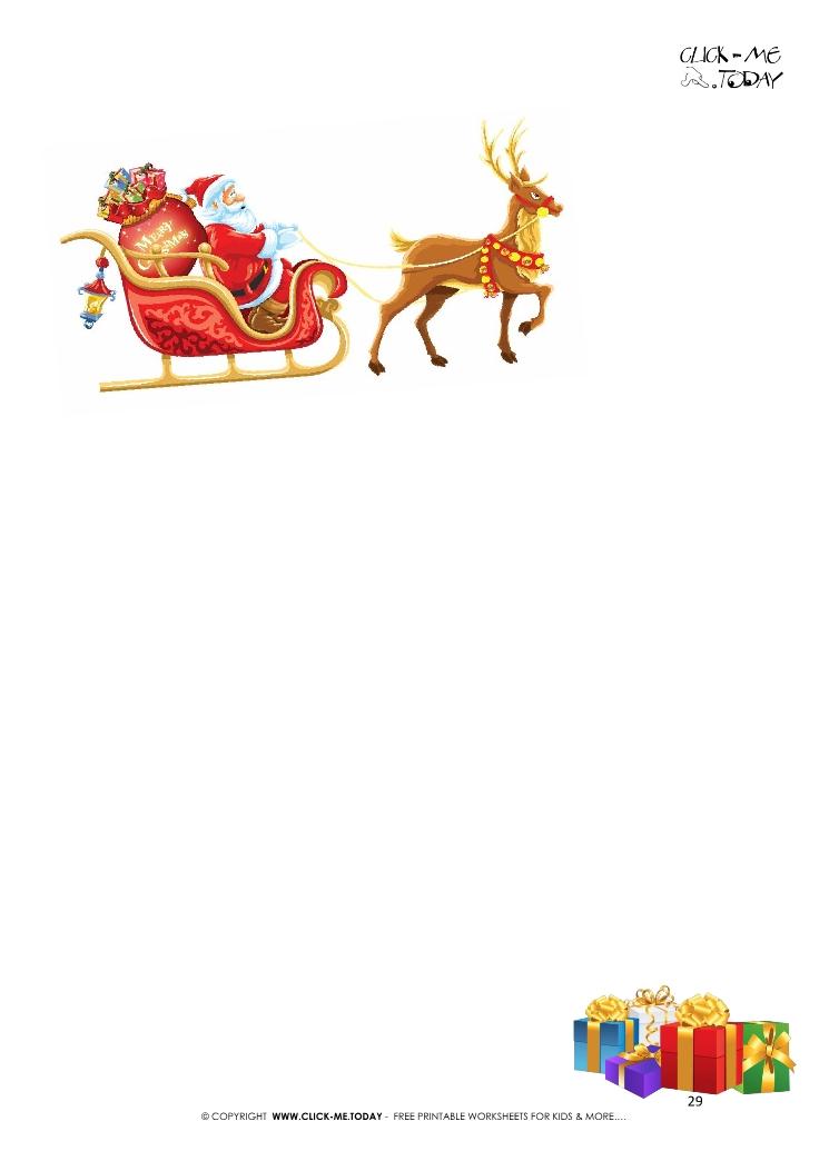 free printable letter to santa template sleigh presents 29 - Free Printable Letter From Santa Template