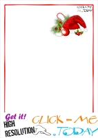 Free printable Letter to Santa Claus blank paper template -Santa  hat 11