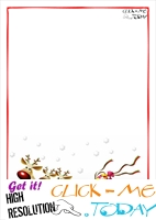 Printable Letter to Santa Claus blank paper template Sleigh Background-4