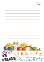 Free printable Christmas stationery with presents & lines 4