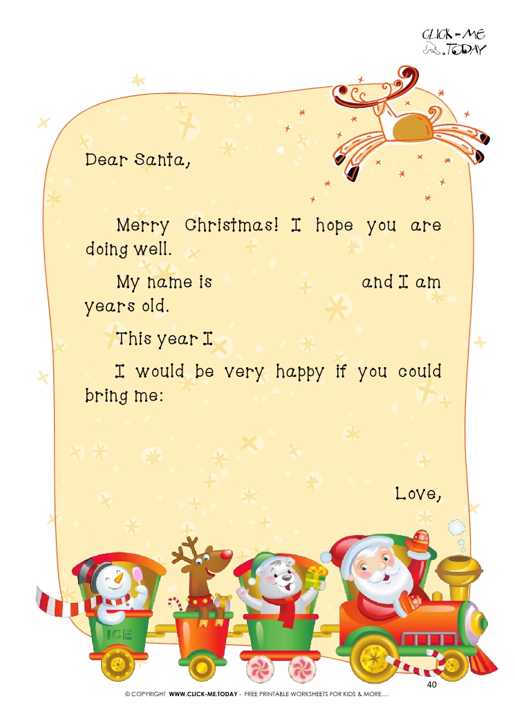 photo about Dear Santa Printable titled Totally free printable Expensive Santa Claus pattern terms letter 40