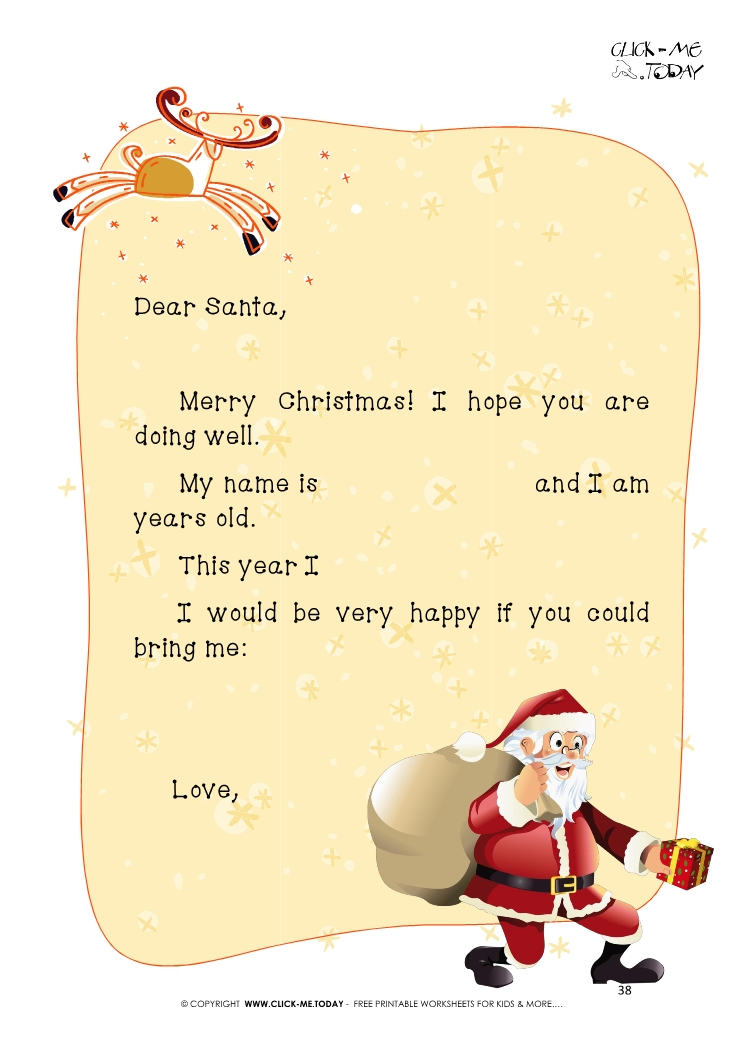 Funny ready to sent letter to santa claus with sample text 38 spiritdancerdesigns Gallery