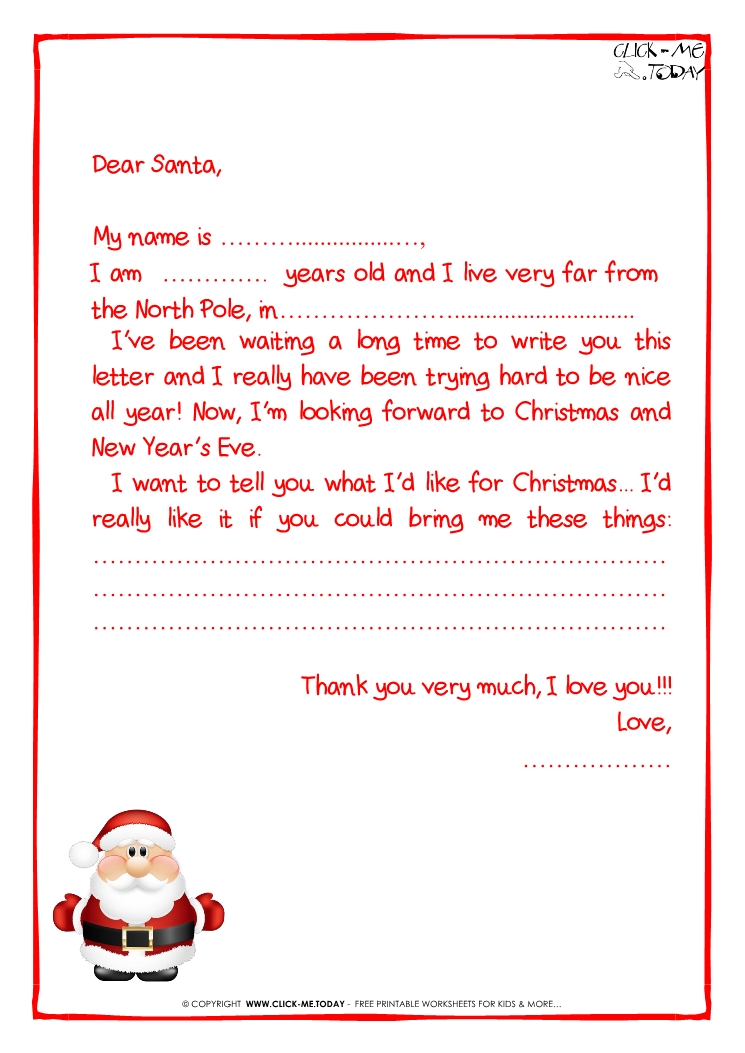 Ready letter to santa claus template more text cute santa 16 letter to santa claus template more text cute santa 16 spiritdancerdesigns Choice Image