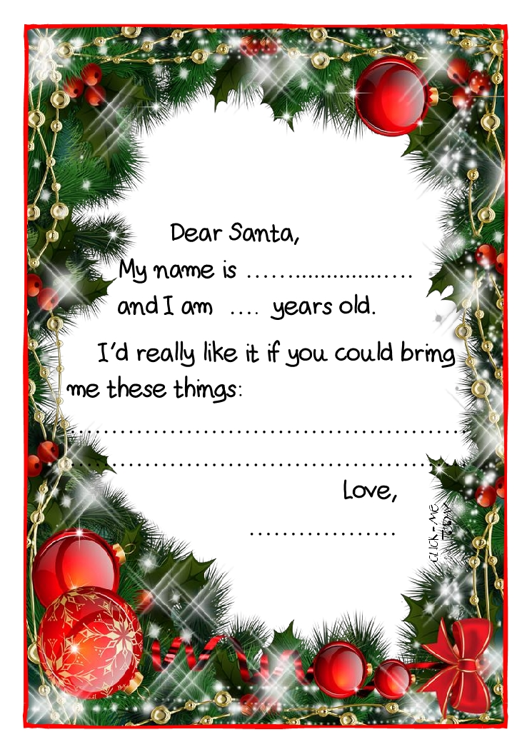 How to write an application letter xmas