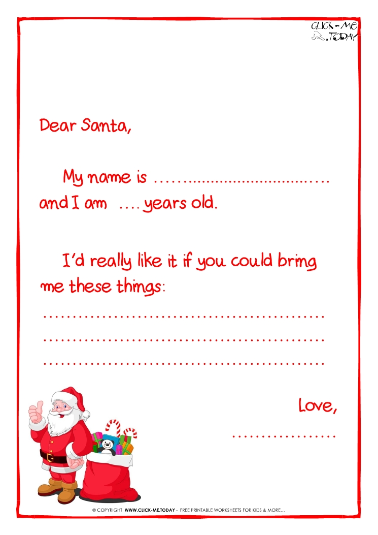 Xmas coloring pages letter from santa template cyberuse letter from letter to santa free printable spiritdancerdesigns Image collections
