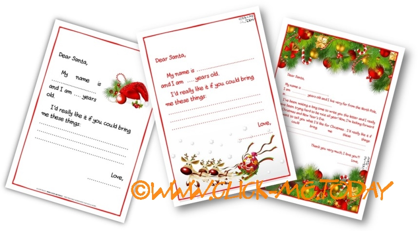 free printable sample ready letter to santa claus template