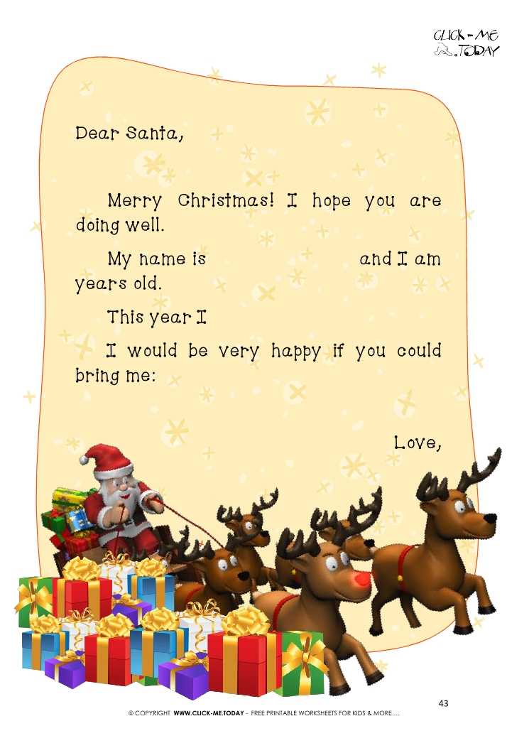 the best free printable letter for santa claus template 43