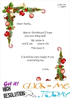 Printable Christmas sample text for letter to Santa template 4