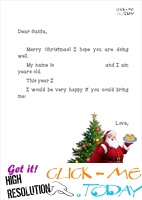 Printable full Santa letter template with Xmas tree 8