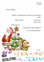 Free Letter to Santa with text print out - Xmas tree & elf 9