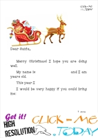 Printable ready Letter to Santa template sleight and presents 15