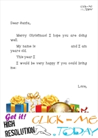 Free printable Xmas ready letter to Santa stationery presents 2
